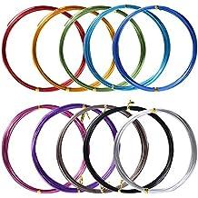 10 Rollos de Alambre de Aluminio para Manualidades, Colores Variados, 1 mm de Diámetro, 5 Metros de Largo