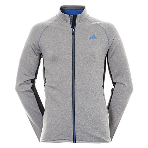 adidas Herren Climaheat Full-Zip Jacke, Medium Grey Heather, L (Zip Jacke Golf)