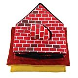 Delicacydex Portable Brick Pet House mit Kamin Warm und gemütlich Hund Katze Bett Abnehmbare Waschbar Haustier Zelt Geeignet für Alle Jahreszeiten