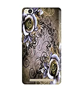 Redmi 4A Back Cover Designer 3d printed Hard Case Cover for Redmi 4A by Gismo - Art flower Theme