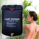 FAINLIST 20 L/5Gallon Camping Shower Portable Outdoor Bath Bag Hiking PVC Water Bag