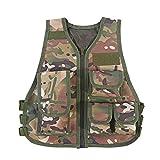 Caldo Bambini Bambino Camouflage Vest con Multi Pouches per giochi di caccia all'aperto di caccia(L-CPCamuffamento)