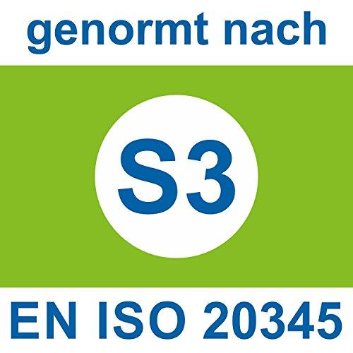 Scarpe Antinfortunistica ESD di Ergo Med 465XP BLUELINE in weite 14secondo la norma EN ISO 20345S3SRC di Atlas nero