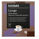 Marca Amazon - Solimo Cápsulas Lungo, compatibles con Nespresso - 50 cápsulas (1 x 50)