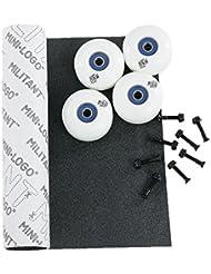 Black Sheep Kit de rodamientos y tornillos y antideslizante y ruedas de skate