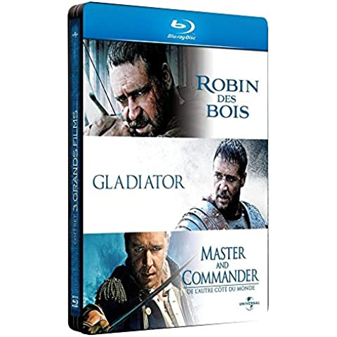 Russell Crowe - 3 grands films : Robin des Bois + Gladiator + Master and Commander