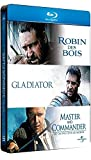 Coffret Russell Crowe Robin des Bois / Gladiator / Master and Commander (boîtier métal) [Blu-ray]