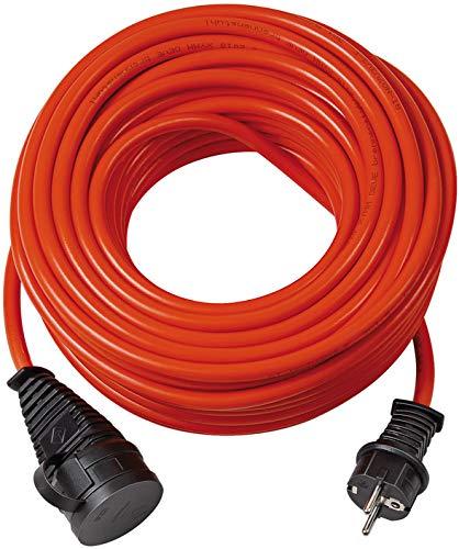 Brennenstuhl 1169920 BREMAXX Verlängerungskabel (5m Kabel, für Einsatz im Außenbereich IP44, einsetzbar bis-35 °C, Öl-und UV-beständig, Made in Germany) orange, Rot