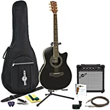 Guitarra Deluxe Con Dorso Redondeado + Pack Completo - Negro