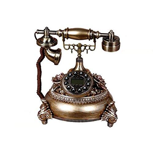 DALL Bürotelefone S245 Harz + Zink-Eisen-Legierung Freisprechen Multifunktion Anzeige Bildschirm Festnetzanschluss Kabelgebundenes Telefon Bronze, Weiß ( Farbe : Bronze )