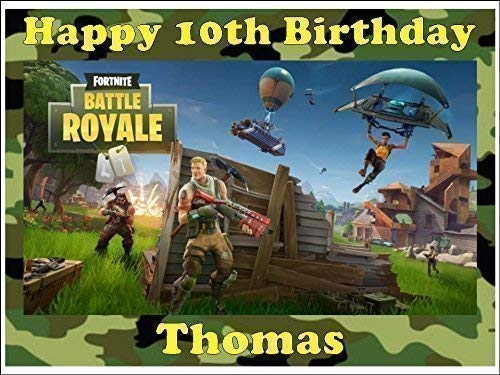 Personalizado fortnite Adorno Tarta Comestible rectangular (Design 2)