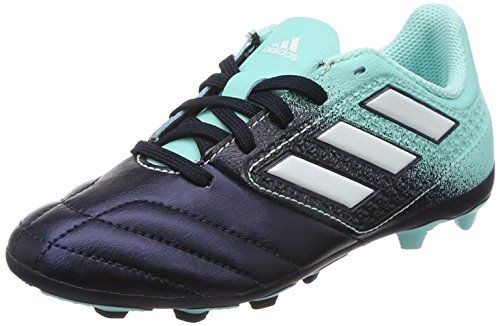 size 40 6bd2f 81652 adidas Unisex-Kinder Ace 17.4 Fxg J Fußballschuhe, Mehrfarbig (Energy  Aqua FTWR