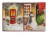 12 Packung von Front Door Porträt Weihnachtskarten - Assorted