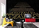 Komar - Fototapete STAR WARS INTRO - 368 x 254 cm - Tapete, Wand, Dekoration, Wandbelag, Wandbild, Wanddeko, Vorspann, Galaxy - 8-487