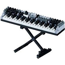Brixies 410122 - Teclado, rompecabezas 3D, Instrumentos Musicales, 100 partes, Nivel 1, luz, multicolor