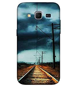 For Samsung Galaxy Core Prime :: Samsung Galaxy Core Prime G360 :: Samsung Galaxy Core Prime Value Edition G361 :: Samsung Galaxy Win 2 Duos Tv G360Bt :: Samsung Galaxy Core Prime Duos vintage railroad, railroad Designer Printed High Quality Smooth Matte Protective Mobile Case Back Pouch Cover by APEX