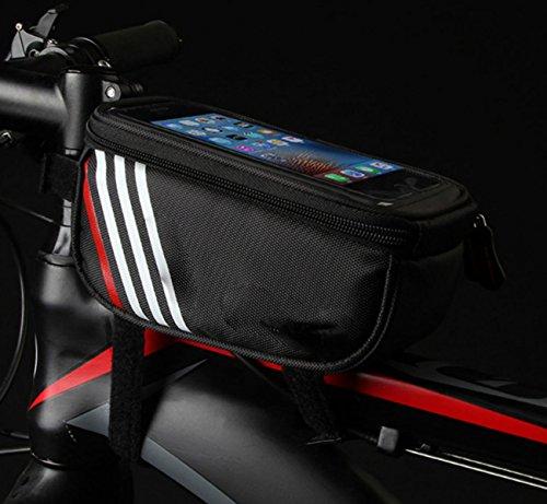 OGTOP Mountainbike Harte Schale Touchscreen Wasserdicht Satteltasche Reitausrüstung Zubehör Black