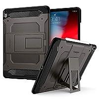 "Spigen Tough Armor Tech Serisi Kılıf iPad Pro 12.9"" (2018) ile Uyumlu/TPU AirCushion Teknoloji/Ekstra Koruma - Gunmetal"