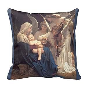 Taie d'oreiller personnalisée URDesigner la chanson de la Housse de Coussin Ange Cadeau personnalisé Taie d'été Oreiller 18 cm x 18 cm
