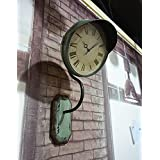 Wallcovering Loft Industrial Viento Retro Hierro Reloj Creativo Bell Bar Restaurante Reloj Decoración de Pared ( Material : Hierro , Estilo : Industrial Retro )