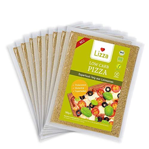 Lizza Bio Low Carb Pizzateig aus Leinsamen und Chiasamen. Pizza. Bio. Glutenfrei....