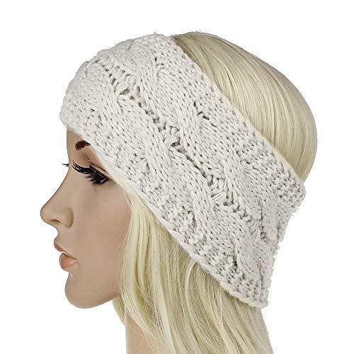Damen Gehörschutz Häkelarbeit Gestrickt Stirnband Haarband, LEEDY Mädchen Warme Wolle Gesicht Kopfband Headband Stirnbänder Kopfbedeckung im Retro Style Mode Trend 2019