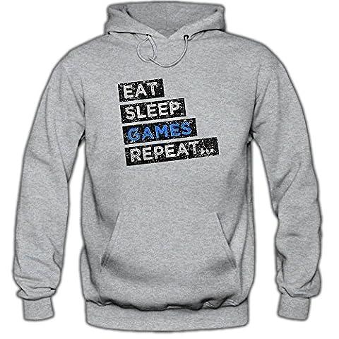 Hobby Games #1 Hoody | Game-Hoody | Eat Sleep Repeat | Gamer | Herren | Kapuzenpullover © Shirt Happenz,