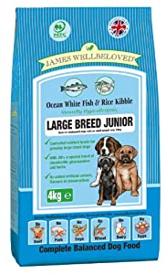 James Wellbeloved Junior Large Breed Fish and Rice Dry Mix 15 kg from James Wellbeloved