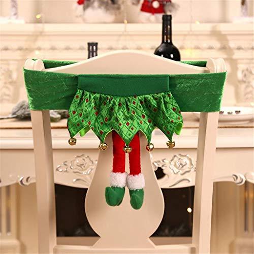 Elf Prinzessin Kostüm Womens - Mitlfuny Festival dekor,Christmas,Halloween,Weihnachtsdekoration,Halloween deko,Halloween kostüm,Weihnachtsschmuck Vlies Elf Chair Set Hocker Set Stuhlbezug