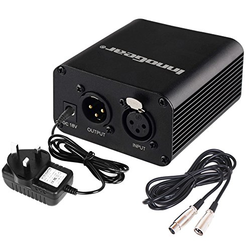 innogear-single-channel-48v-phantom-power-supply-with-adapter-and-audio-xlr-cable-3-meters-10-feet-f