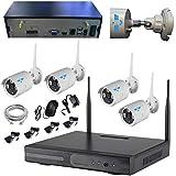 ITALIAN ALARM Kit Videosorveglianza Telecamere Wireless WiFi da esterno, APP Android/IOS, Visione...