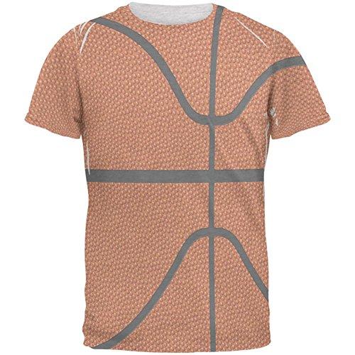 Basketball Kostüm Herren T Shirt Heather weiß X-LG (Basketball Kostüme Für Männer)