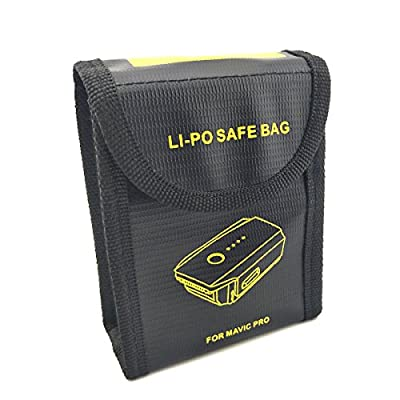 WOSKY Fireproof Lipo Battery Safe Bag Lipo Battery Guard Safety Bag Pouch Sack Resistant Explosionproof Storage Battery Bag Charge & Storage for DJI Mavic Pro Battery