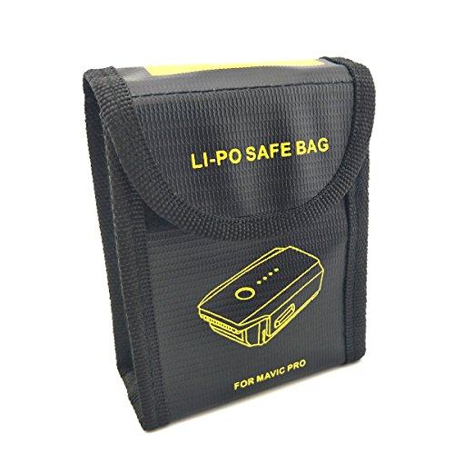 WOSKY 1 Stück Feuerfest Explosionsgeschützt Lipo Batterie Safe Guard Tasche Hülse Akku Safety Bag Lipo Batterie Bewachen Beutel Sack Berechnen Schutz Tasche zum für DJI MAVIC PRO (Apex-batterie)