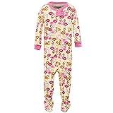 elowel Baby Girls Footed Flamingo Pajama Sleeper 100% Cotton (Size 6 M-5 Years) 4 Years
