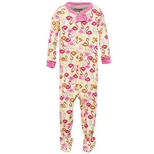 Elowel Baby Madchen Grobe 68-110 Einteiler Strampler Schlafanzug Schlafoverall Flamingo 100% Baumwolle 18-24 Monate (Pyjamas Pjs Footed)