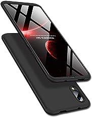 Designerz Hub Vivo V11 Pro Cover Case Ull Body 3 in 1 Slim Fit Complete 3D 360 Degree Protection Hybrid Hard Bumper Back Case Cover for Vivo V11 Pro Black
