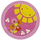 Carpet for Kids  Kinderteppich Sonne rosa 200 cm rund