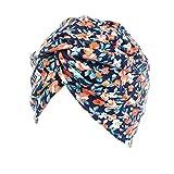 ASHOP Sombrero de Mujer, La mujer cancer chemo sombrero beanie bufanda floral Wrap Cap cabeza de turbante (C)