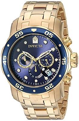 Invicta 0073 - Reloj para hombre color azul / dorado de Invicta