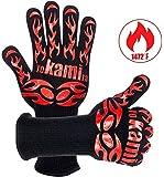 yokamira Guanti da Forno, Certificato EN407, BBQ Guanti da Cucina con Resistenza al Calore Fino a 800°C, con Fodera in…