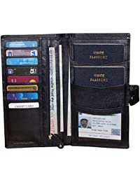 leather Travel Passport Holder Premium Quality Travel Document Holder for 2 Passports
