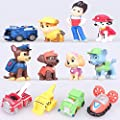 12 Pcs/Set Puppy Dog Toy Childrens Mini Anime Action Figure Dog Toys by Cugbo