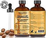 Arganöl 100 % reines kalt gepresst und zertifiziertes Argan öl für Gesicht, Haut, Haare und Nägel. Naturprodukte von Marokko, Feuchtigkeits öl für jüngere suchen nährende Hautpflege 100 ml