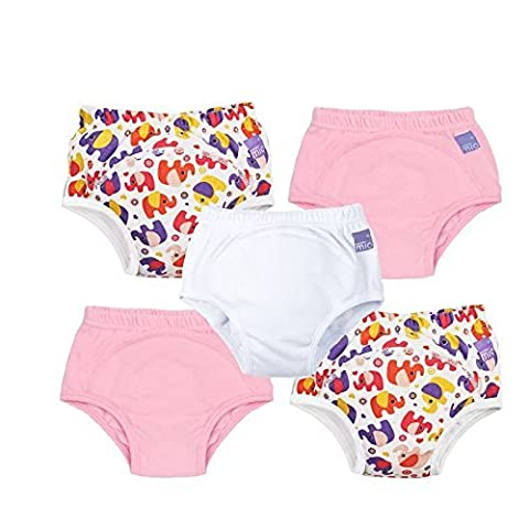 Bambino Mio 5-Piece Miosoft Reusable Pull-Up Style Potty Training Pants for Girls, Aged 2 to 3 Years
