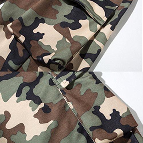 West See Herren Cargo Shorts Baumwolle Basic Vintage Badeshort Sommer Cool Sport Jogging Traning Army Grün Army Grün