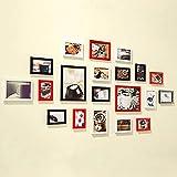 CQSMOO Mauer Skulptur Frame Foto Wand, europäischen Stil hängen Moderne Wohnzimmer kreative Portfolio Fotowand by (Farbe : Black+White+red)