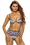 WJS-Abbigliamento donna diviso in piscina multi - nastro reggiseno e costume vita timbro split strip titolare,- Colore,M