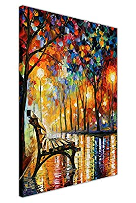 Loneliness Autumn By Leonid Afremov Oil Painting Reprint On Framed Canvas Wall Art Pictures Deco Prints - inexpensive UK light store.