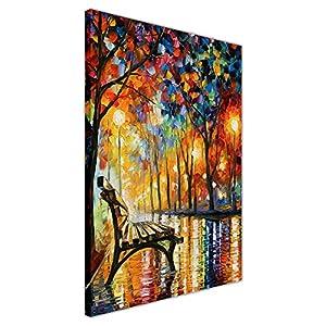 """Canvas It Up, Ölgemälde auf Rahmen, Nachdruck von """"Loneliness of Autumn"""" von Leonid Afremov, Kunst auf Leinwand, Wandbild, Déko-Druck, canvas, 04- 30"""